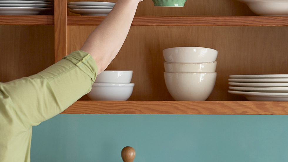 Clean inside cabinets