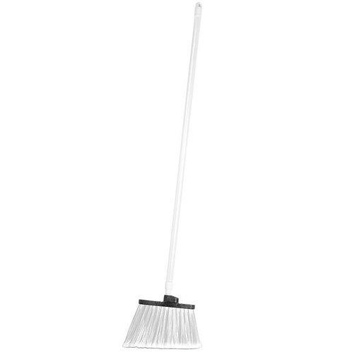 "Carlisle Spectrum Duo-Sweep 12"" Angled Broom,White Bristles & 48"" Handle"