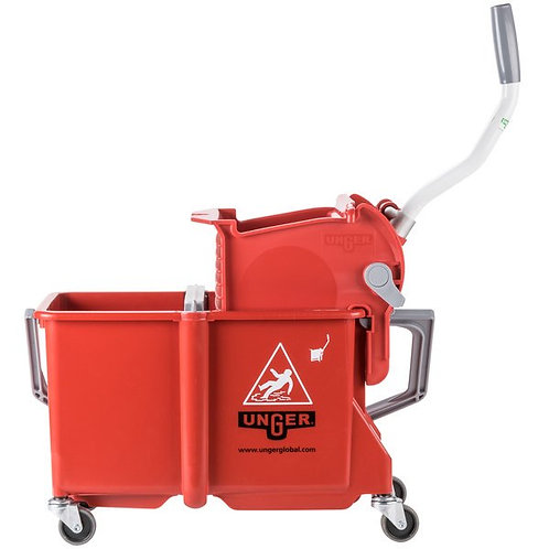 Unger 4 Gallon Red Mop Bucket w/ Side-Press Wringer