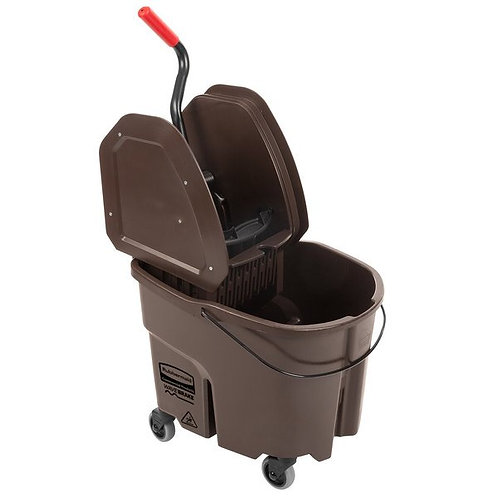 Rubbermaid WaveBrake� 35 Qt. Brown Mop Bucket w/ Down Press Wringer