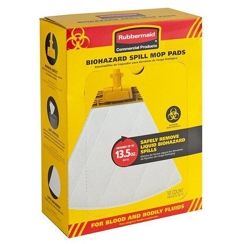 Rubbermaid Spill Mop Biohazard Mop Pad - 10/Pack
