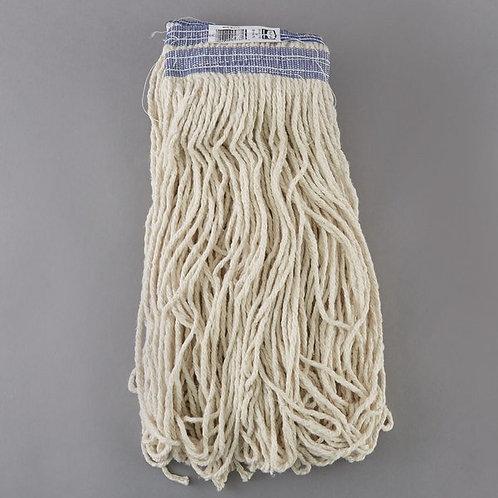Rubbermaid 24 oz. White Cotton Mop Head w/ Universal Headb&