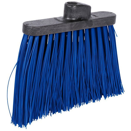 "Carlisle Duo-Sweep 12"" Heavy Duty Angled Broom Head w/ Blue Bristles"