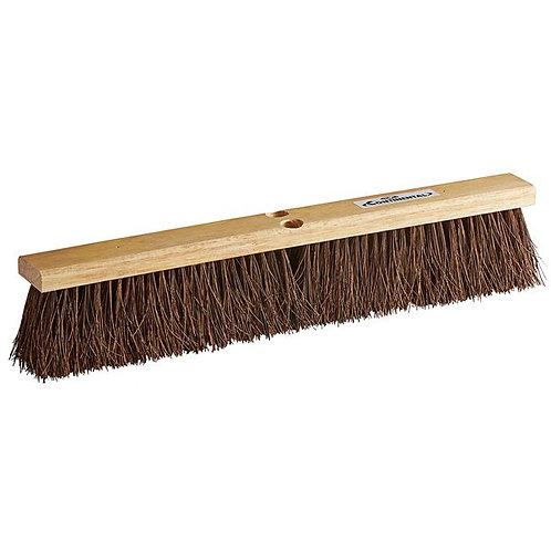 "Continental 24"" Hardwood Push Broom Head w/ Heavy Palmyra Bristles"