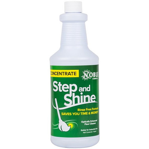 Noble Chemical 32 oz. Step & Shine Concentrated Floor Cleaner Refill - 2/Case