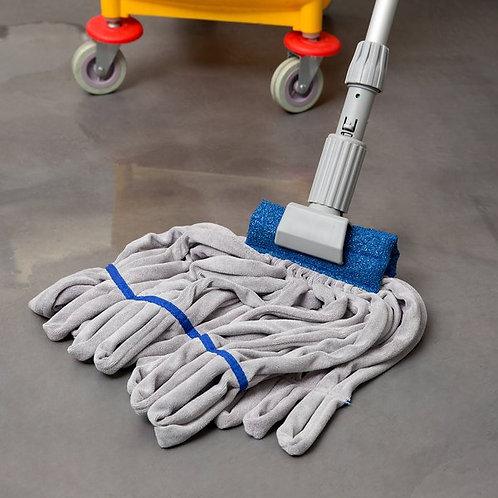 "SmartColor RoughMop 11oz Blue Light Duty Microfiber Tube Mop Head,4 1/2"" Band"