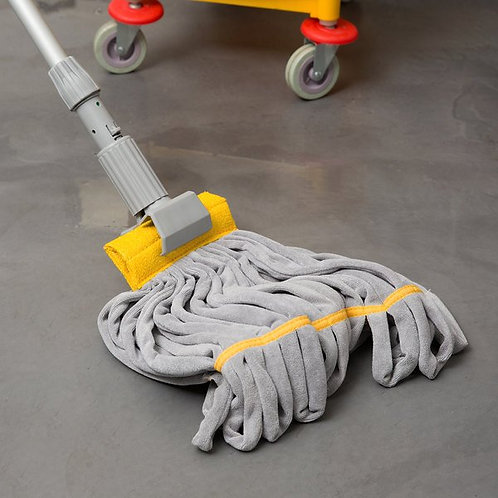 "Unger SmartColor RoughMop 11oz Yellow Light Duty Microfiber Tube Mop,4 1/2"" Band"