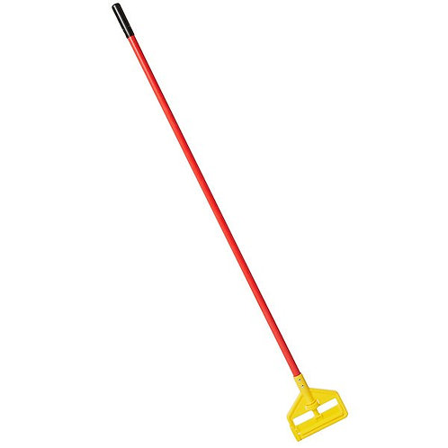 """Rubbermaid Invader 60"""" Red Fiberglass Wet Mop Handle Side Gate Style"""