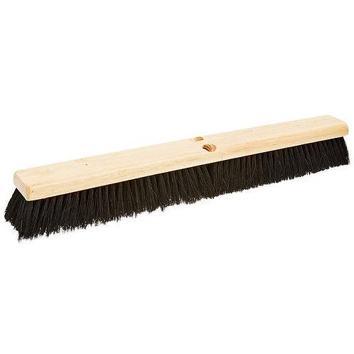 """Carlisle Flo Pac 24"""" Push Broom Head w/ Black Bristles"""