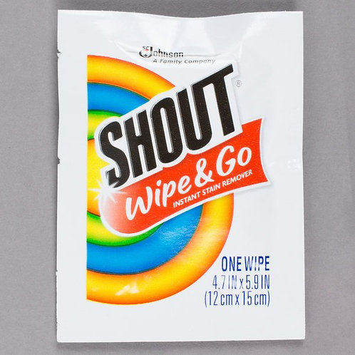 SC Johnson Shout� Instant Stain Remover Wipes - 80/Case