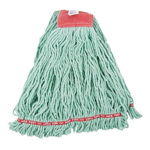 "Rubbermaid Green Large Web Foot Shrinkless Blend Mop Head,5"" Headb&"