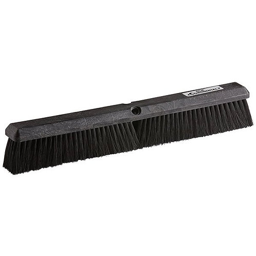 "Continental 24"" Plastic Push Broom Head w/ Polypropylene Bristles"