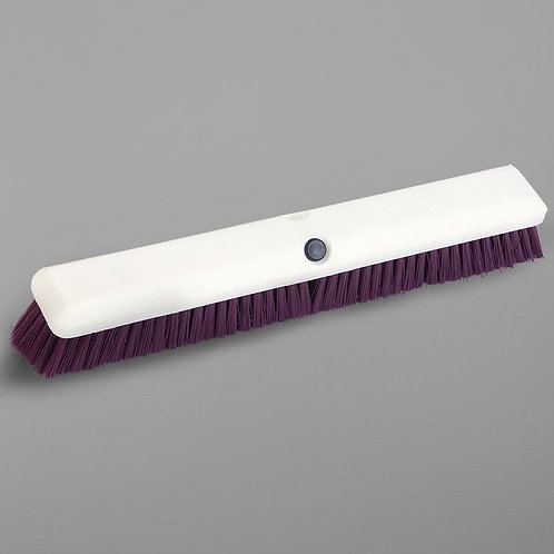 "Carlisle Sparta Spectrum Omni Sweep 18"" Push Broom Head,Purple Bristles"