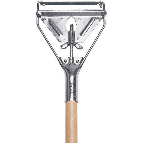 "Continental 63"" Metal Stirrup Style Mop Handle w/ Metal Head"