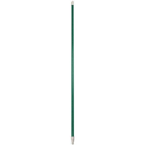 "Carlisle Sparta Spectrum 48"" Green Threaded Fiberglass Broom / Squeegee Handle"