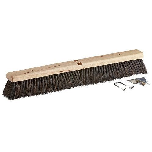 "Carlisle Flo-Pac 24"" Hardwood Push Broom Head,Horsehair / Tampico Bristle Blend"
