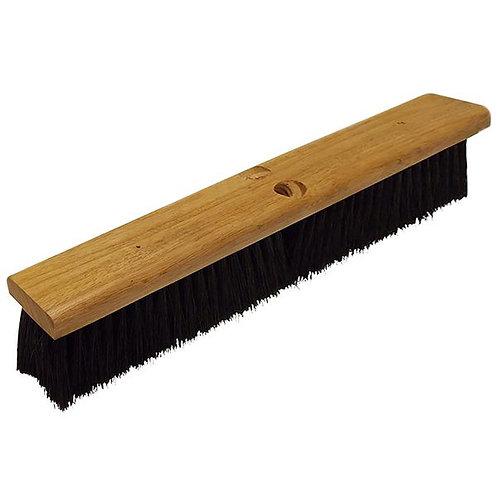 "Continental 18"" Hardwood Push Broom Head w/ Polypropylene Bristles"