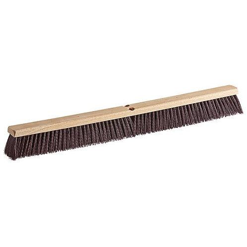 """Carlisle Flo-Pac 36"""" Hardwood Push Broom Head,Maroon Crimped Poly Bristles"""