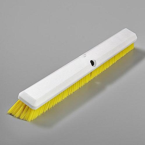 "Carlisle Sparta Spectrum Omni Sweep 24"" Push Broom Head,Yellow Bristles"