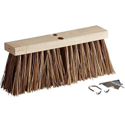 "Carlisle Flo-Pac 16"" Hardwood Push Broom Head,Heavy Palmyra Bristles"