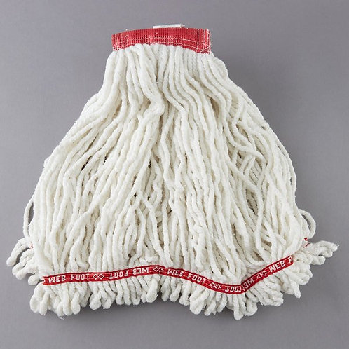 "Rubbermaid White Large Web Foot Shrinkless Blend Mop Head,5"" Headb&"