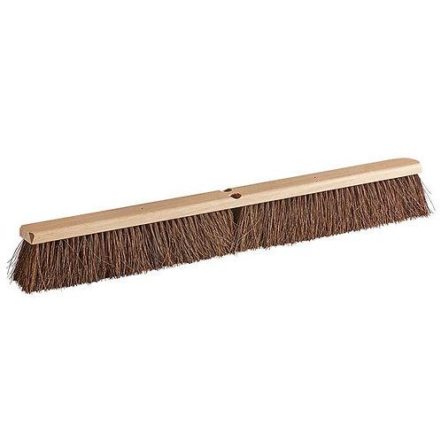 "Carlisle Flo-Pac 36"" Hardwood Push Broom Head w/ Heavy Palmyra Bristles"