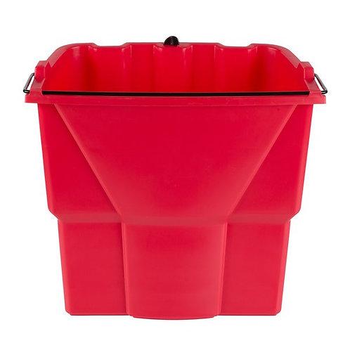 Rubbermaid WaveBrake� 18 Qt. Red Dirty Water Bucket