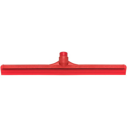 "Carlisle Sparta Spectrum 20"" Red Single Blade Rubber Squeegee,Plastic Frame"