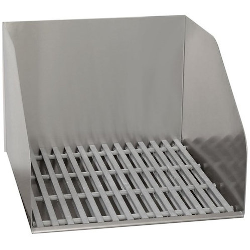 "Advance Tabco 21 3/8""x24""x16 1/2"" Stainless Floor Mounted Sink,Fiberglass Grate"