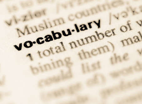 Janitorial Vocabulary List
