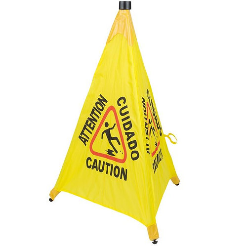"31"" Pop-Up Safety Cone Wet Floor Sign"