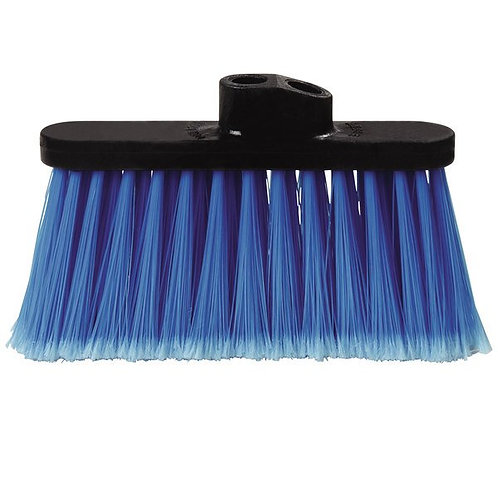 "Carlisle Duo-Sweep 11"" Light Industrial Broom Head w/ Blue Bristles"