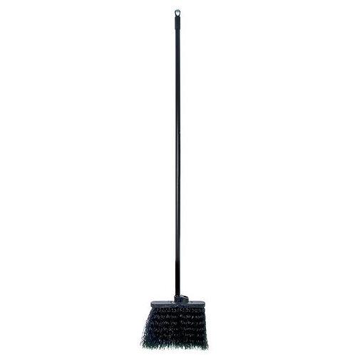 "Carlisle  Duo-Sweep 13"" Warehouse Broom w/ Black Bristles & 48"" Handle"