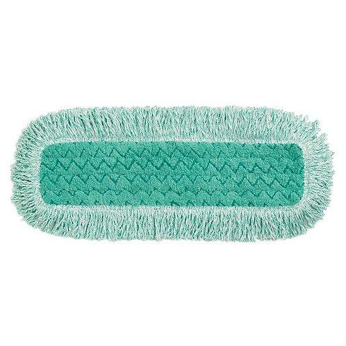 """Rubbermaid HYGEN 18"""" Green Microfiber Fringed Dust Mop Pad"""
