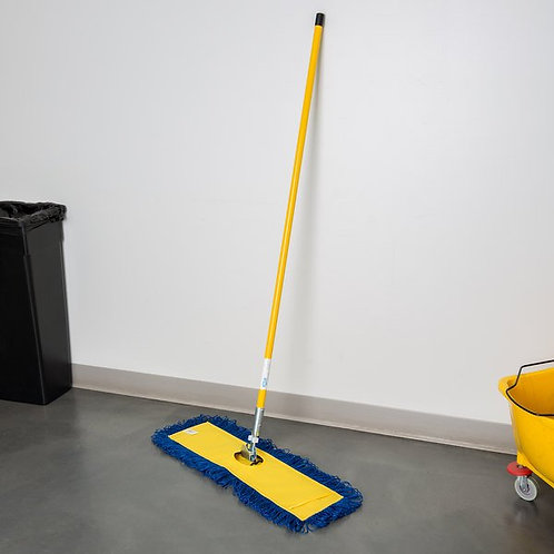 "24"" x 5"" All-In-One Microfiber Dust Mop w/ 60"" Handle"
