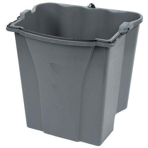 Rubbermaid Executive WaveBrake� 18 Qt. Gray Dirty Water Mop Bucket