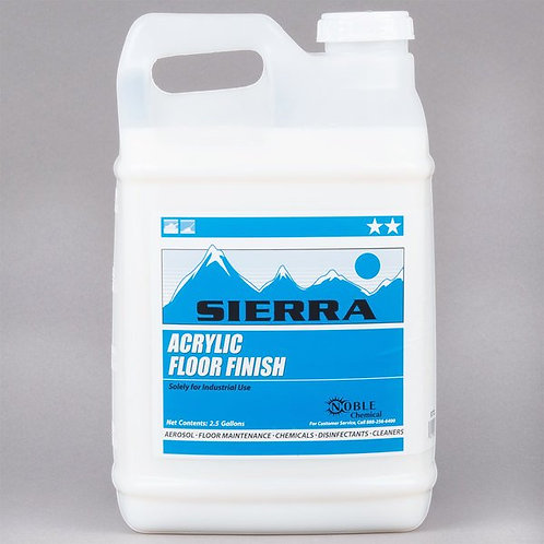 Sierra by Noble Chemical 2.5 gallon / 320 oz. Acrylic Floor Finish - 2/Case