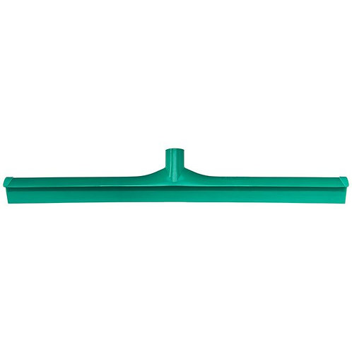"Carlisle Sparta Spectrum 24"" Green Single Blade Rubber Squeegee,Plastic Frame"