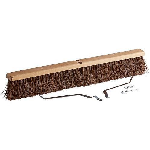 "Continental 30"" Hardwood Push Broom Head w/ Heavy Palmyra Bristles"