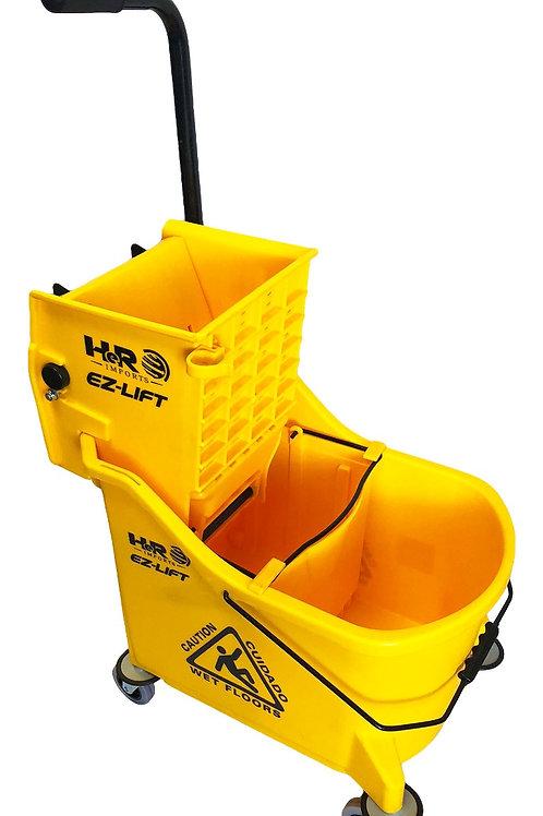 Yellow - Dual-Chamber Mop Bucket