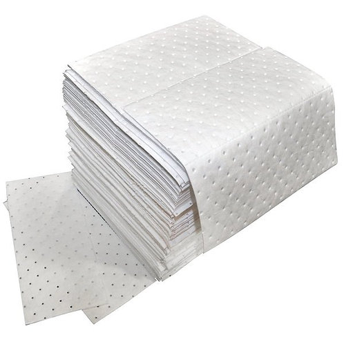 Spilfyter Oil Only White Heavy Weight Absorbent Pad - 100/Case