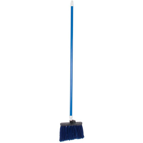 "Carlisle Spectrum Duo-Sweep 12"" Angled Broom,Blue Bristles & 48"" Handle"