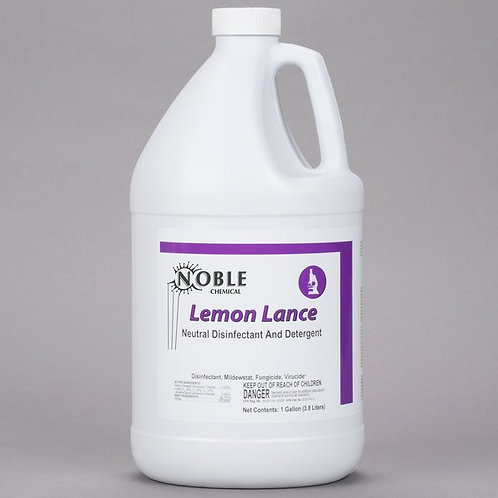 Noble Chemical Lemon Lance 1 Gallon / 128 oz. Disinfectant & Detergent Cleaner