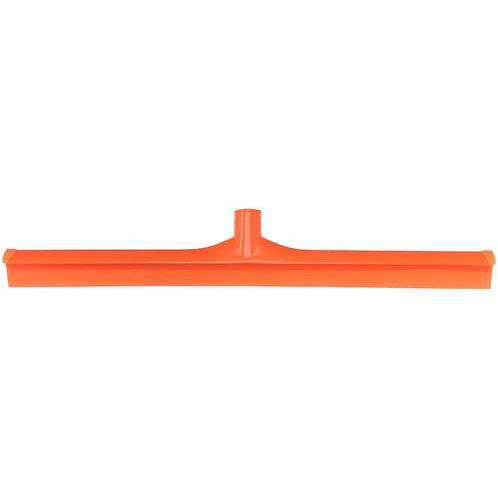 "Carlisle Sparta Spectrum 24"" Orange Single Blade Rubber Squeegee,Plastic Frame"