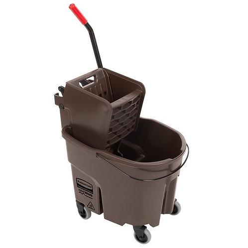 Rubbermaid WaveBrake� 35 Qt. Brown Mop Bucket w/ Side Press Wringer