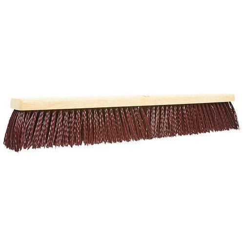 "Carlisle Flo Pac 24"" Push Broom Head w/ Maroon Bristles"