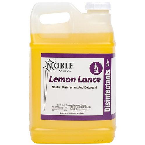 Noble Chemical 2.5 Gal./320 oz Lemon Lance Lemon Disinfectant & Detergent - 2