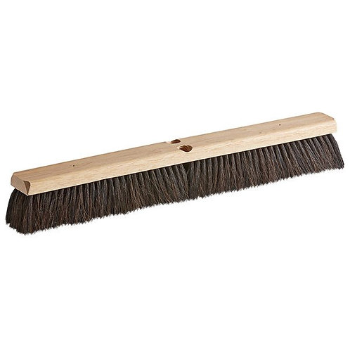"Carlisle Flo-Pac 24"" Hardwood Push Broom Head,Horsehair/Poly Bristle Blend"