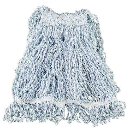 """Rubbermaid White Medium Web Foot Finish Mop Head w/ 1"""" Headb&"""