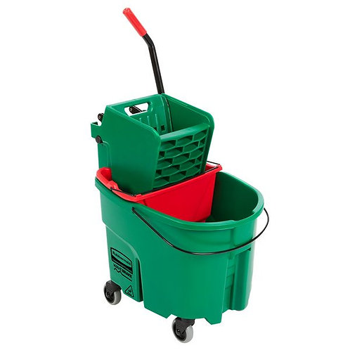 Rubbermaid WaveBrake 35Qt Mop Bucket,Side Press Wringer & Dirty Water Bucket